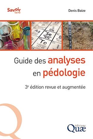 Guide des analyses en pédologie - édition 2018 - couverture